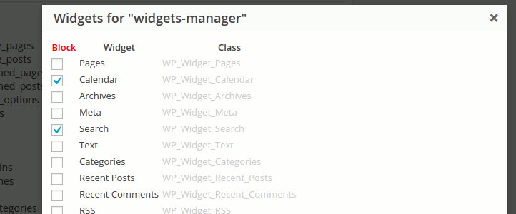 User Role Editor Pro - Block widgets under Appearence menu